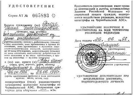 интерьер Посуда удостоверение чернобыльца кому положено является один